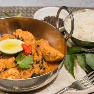 South Indian chicken curry ready-meal delivered to Arrowtown, Queenstown